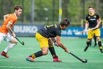 BLOEMENDAAL - Sebastian van der Graaf (Den Bosch)    tijdens de hoofdklasse competitiewedstrijd hockey heren,  Bloemendaal-Den Bosch (2-1).  COPYRIGHT KOEN SUYK