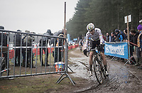 World Champion Wout Van Aert (BEL/Crelan-Willems)<br /> <br /> elite men's race<br /> Krawatencross Lille 2017