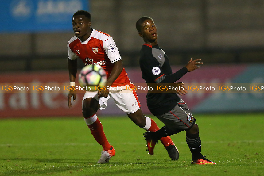 Marc Bola of Arsenal in action during Arsenal Under-23 vs Southampton Under-23, Premier League 2 Football at Meadow Park on 14th October 2016