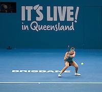 Ajla Tomljanovic (CRO)<br /> <br /> Tennis - Brisbane International 2015 - ATP 250 - WTA -  Queensland Tennis Centre - Brisbane - Queensland - Australia  - 4 January 2015. <br /> &copy; Tennis Photo Network