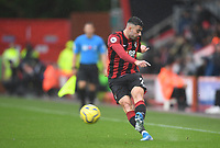 2nd November 2019; Vitality Stadium, Bournemouth, Dorset, England; English Premier League Football, Bournemouth Athletic versus Manchester United; Diego Rico of Bournemouth plays the ball forward - Strictly Editorial Use Only. No use with unauthorized audio, video, data, fixture lists, club/league logos or 'live' services. Online in-match use limited to 120 images, no video emulation. No use in betting, games or single club/league/player publications