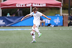 SALEM, VA - DECEMBER 3:  Tyler Kulcsar (16) of Tufts University takes a shot on goal Division III Men's Soccer Championship held at Kerr Stadium on December 3, 2016 in Salem, Virginia. Tufts defeated Cavlin, 1-0 for the national title. (Photo by Kelsey Grant/NCAA Photos)