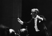 Conductor Leonard Bernstein