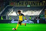 09.08.2019, Merkur Spiel-Arena, Düsseldorf, GER, DFB Pokal, 1. Hauptrunde, KFC Uerdingen vs Borussia Dortmund , DFB REGULATIONS PROHIBIT ANY USE OF PHOTOGRAPHS AS IMAGE SEQUENCES AND/OR QUASI-VIDEO<br /> <br /> im Bild | picture shows:<br /> Einzelaktion Axel Witsel (Borussia Dortmund #28), <br /> <br /> Foto © nordphoto / Rauch