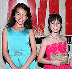 Isabela Moner & Maya Jade Frank.attending the Broadway Opening Night Performance After Party for 'EVITA' at the Mariott Marquis Hotel in New York City on 4/5/2012
