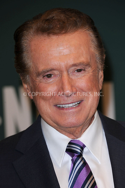 "WWW.ACEPIXS.COM . . . . . .November 15, 2011, New York City.....Regis Philbin signs copies of ""How I Got This Way"" at Barnes and Noble Fifth Avenue November 15, 2011 in New York City. . ..Please byline: KRISTIN CALLAHAN - ACEPIXS.COM.. . . . . . ..Ace Pictures, Inc: ..tel: (212) 243 8787 or (646) 769 0430..e-mail: info@acepixs.com..web: http://www.acepixs.com ."