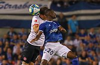 David Abraham (Eintracht Frankfurt) gegen Kevin Lucien Zohi (Racing Club de Strasbourg Alsace) - 22.08.2019: Racing Straßburg vs. Eintracht Frankfurt, UEFA Europa League, Qualifikation, Commerzbank Arena<br /> DISCLAIMER: DFL regulations prohibit any use of photographs as image sequences and/or quasi-video.