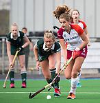 ALMERE - Hockey - Overgangsklasse competitie dames ALMERE- ROTTERDAM (0-0) .  Catherine Clot met links Lotte de Heer (R'dam)  COPYRIGHT KOEN SUYK