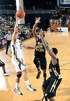 Florida International University guard Steven Miro (5) plays against Alabama State University, which won the game 60-57 on December 3, 2011 at Miami, Florida. .
