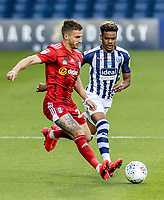 West Bromwich Albion's Grady Diangana (right) competing with Fulham's Joe Bryan <br /> <br /> Photographer Andrew Kearns/CameraSport<br /> <br /> The EFL Sky Bet Championship - West Bromwich Albion v Fulham - Tuesday July 14th 2020 - The Hawthorns - West Bromwich <br /> <br /> World Copyright © 2020 CameraSport. All rights reserved. 43 Linden Ave. Countesthorpe. Leicester. England. LE8 5PG - Tel: +44 (0) 116 277 4147 - admin@camerasport.com - www.camerasport.com