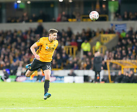 4th January 2020; Molineux Stadium, Wolverhampton, West Midlands, England; English FA Cup Football, Wolverhampton Wanderers versus Manchester United; Leander Dendoncker of Wolverhampton Wanderers heads the ball back - Strictly Editorial Use Only. No use with unauthorized audio, video, data, fixture lists, club/league logos or 'live' services. Online in-match use limited to 120 images, no video emulation. No use in betting, games or single club/league/player publications
