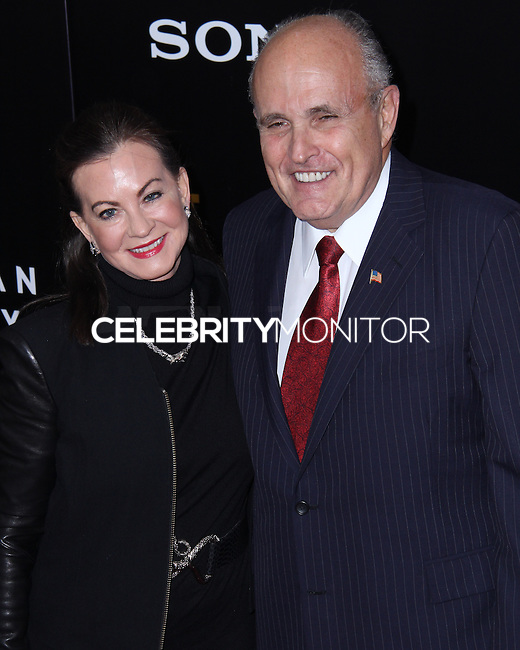 "NEW YORK, NY - FEBRUARY 04: Judith Nathan, Rudy Giuliani at the New York Premiere Of Columbia Pictures' ""The Monuments Men"" held at Ziegfeld Theater on February 4, 2014 in New York City, New York. (Photo by Jeffery Duran/Celebrity Monitor)"
