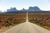 A vie of Monument Valley from Rte. 163