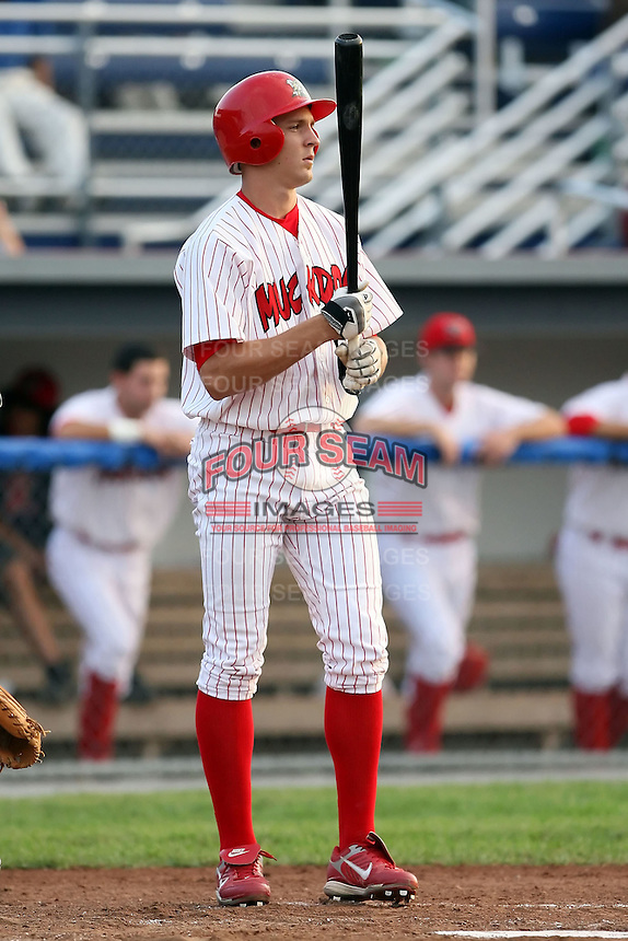 July 19th, 2007:  Collin Fanning of the Batavia Muckdogs, Short-Season Class-A affiliate of the St. Louis Cardinals at Dwyer Stadium in Batavia, NY.  Photo by:  Mike Janes/Four Seam Images