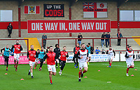 The Fleetwood Town players warm up<br /> <br /> Photographer Richard Martin-Roberts/CameraSport<br /> <br /> The EFL Sky Bet League One - Fleetwood Town v Doncaster Rovers - Wednesday 26th December 2018 - Highbury Stadium - Fleetwood<br /> <br /> World Copyright &not;&copy; 2018 CameraSport. All rights reserved. 43 Linden Ave. Countesthorpe. Leicester. England. LE8 5PG - Tel: +44 (0) 116 277 4147 - admin@camerasport.com - www.camerasport.com