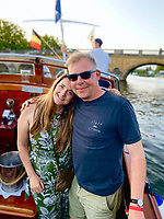 BNPS.co.uk (01202 558833)<br /> Pic: MattCain/BNPS<br /> <br /> Owner Matt Cain with his wife Rebecca. <br /> <br /> A lifeboat which was present at Dunkirk is set to sail there on the 80th anniversary of the mass evacuation after being painstakingly restored.<br /> <br /> The Lady of Mann was lifeboat number eight on board the passenger ship RMS Lady of Mann, which brought 4,262 men back to England in May 1940.<br /> <br /> It was also on the Isle of Man Steam Packet Company vessel when it carried six landing craft, 55 officers and 435 troops to Juno Beach on D-Day in June 1944.<br /> <br /> After the ship was broken up in 1971, the 27ft lifeboat was sold off and converted into a fishing boat which operated out of Maldon, Essex. It had been languishing in a rotting, dilapidated state in an Essex boatyard when IT manager Matt Cain paid £3,000 for it in 2009 after spotting it for sale online.<br /> <br /> The boat sank at its mooring in Windsor, Berks, during the floods of February 2014. Since then, Mr Cain, whose grandfather was evacuated at Dunkirk, has spent over £30,000 returning it to its former glory.