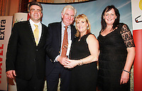 Repro Free from left to right: Eoghan Corry from Travel Extra, Michael Ryan RTE Nationwide, Winner of Broadcasting, Journalist of the Year Sponsored Insight Vacations, Mary Fanning Producer and Sharon Jordan Insight Vacations Travel Extra,Travel Journalist of the Year Awards at the Thomas Prior House Ballsbridge. The event which was sponsored by The Spanish Tourist board gave out 12 awards for different catagories. This year saw a huge increase in the number of submissions from previous years, displaying the creativity and continuning innovation of travel and tourism journalism in Ireland. Collins Photos 25/1/13