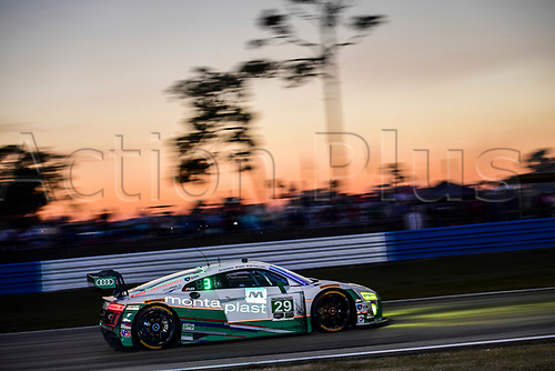 March 18th, 2017; Sebring, Florida, USA; 12 Hours of Sebring Weathertech Sportscar championship;  #29 MONTAPLAST BY LAND MOTORSPORT (DEU) AUDI R8 LMS ULTRA GTD CONNOR DE PHILIIPI (USA) CHRISTOPHER MIES (DEU) JULES GOUNON (FRA)
