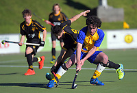 Capital v Southern men. 2019 National Hockey Under-18 Tournament at National Hockey Stadium in Wellington, New Zealand on Sunday, 7 July 2019. Photo: Dave Lintott / lintottphoto.co.nz