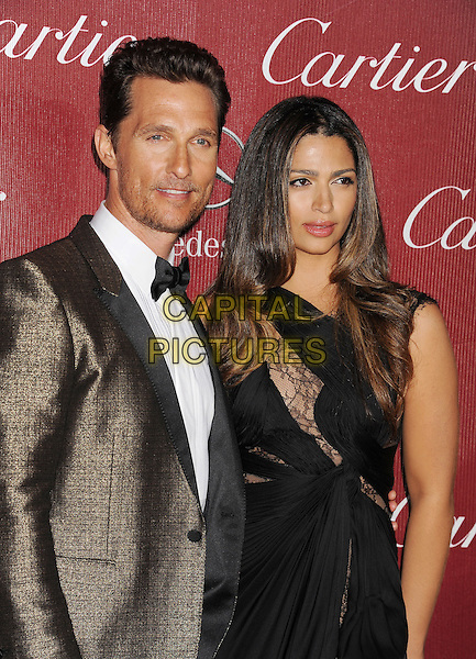 PALM SPRINGS, CA- JANUARY 04: Actor Matthew McConaughey (L) and model Camila Alves-McConaughey arrive at the 25th Annual Palm Springs International Film Festival Awards Gala at Palm Springs Convention Center on January 4, 2014 in Palm Springs, California.<br /> CAP/ROT/TM<br /> &copy;Tony Michaels/Roth Stock/Capital Pictures