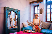 Swedish designer, Sophia Edstrand of Sophia 203 poses for a portrait in her house in Jaipur, Rajasthan, India.
