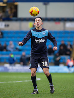 Luke O'Nien of Wycombe warms up during the Sky Bet League 2 match between Wycombe Wanderers and Luton Town at Adams Park, High Wycombe, England on 6 February 2016. Photo by Andy Rowland.