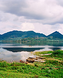 SRI LANKA, Dambualla, Asia, view of Kandalama Lake with mountains in Dambulla.