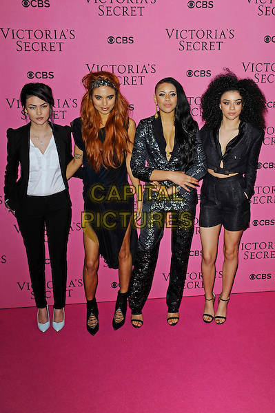 LONDON, ENGLAND - DECEMBER 2: Neon Jungle attends the pink carpet for Victoria's Secret Fashion Show 2014, Earls Court on December 2, 2014 in London, England.<br /> CAP/MAR<br /> &copy; Martin Harris/Capital Pictures