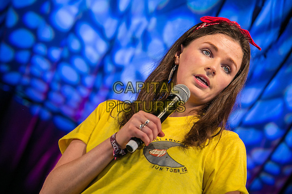 20th July 2014: Irish comedian, actor and writer Aisling Bea plays the Comedy Arena on the fourth day of the 9th edition of the Latitude Festival, Henham Park, Suffolk.<br /> CAP/PP/HOG<br /> &copy; HOG/PP/Capital Pictures