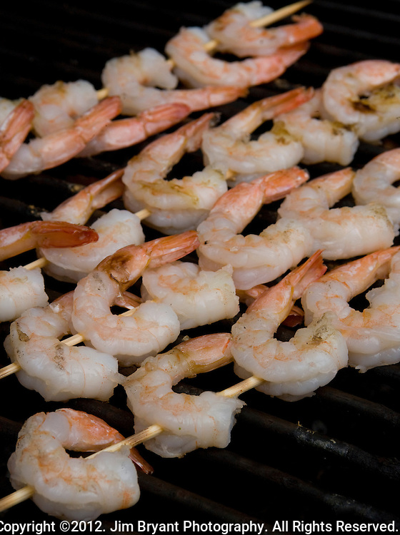 Shrimp Kabobs. ©2012. Jim Bryant Photo. All Rights Reserved.