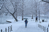 Snow storm, Public Garden, Boston