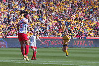 Sandy, UT - Saturday April 14, 2018: Samantha Johnson during a regular season National Women's Soccer League (NWSL) match between the Utah Royals FC and the Chicago Red Stars at Rio Tinto Stadium.