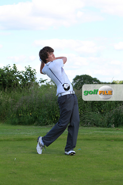 Iain Collins (Bray) on the 11th tee during Round 2 of the Leinster Youths Amateur Open Championship at Esker Hills on Tuesday 17th June 2014.<br /> Picture:  Thos Caffrey / www.golffile.ie