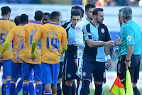 Wycombe Wanderers captain Paul Hayes leads the respect handshake prior to the Sky Bet League 2 match between Mansfield Town and Wycombe Wanderers at the One Call Stadium, Mansfield, England on 31 October 2015. Photo by Garry Griffiths.