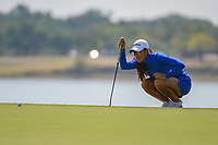 Maria Fassi (MEX) lines up her putt on 11 during the round 2 of the Volunteers of America Texas Classic, the Old American Golf Club, The Colony, Texas, USA. 10/4/2019.<br /> Picture: Golffile | Ken Murray<br /> <br /> <br /> All photo usage must carry mandatory copyright credit (© Golffile | Ken Murray)