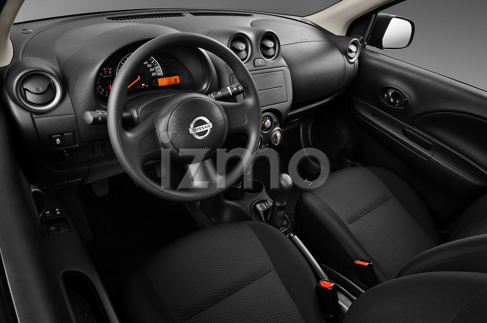 High angle dashboard view of a 2011 Nissan Micra Visia 5 Door Micro Car