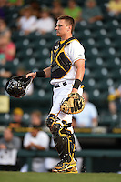 Bradenton Marauders catcher Reese McGuire (7) during a game against the St. Lucie Mets on April 11, 2015 at McKechnie Field in Bradenton, Florida.  St. Lucie defeated Bradenton 3-2.  (Mike Janes/Four Seam Images)