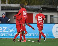 FC GULLEGEM - FC RUPEL BOOM :<br /> juichende spelers van Gullegem bij de gelijkmaker (2-2)<br /> <br /> Foto VDB / Bart Vandenbroucke