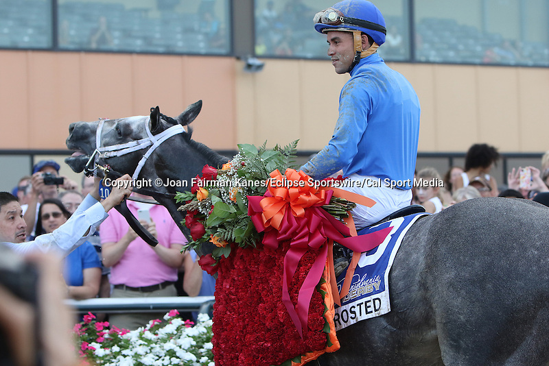 September 19, 2015. Frosted, Joel Rosario up,  wins the $1,000,000 Grade II Pennsylvania Derby, one and 1/8th miles for three-year-olds, at  Parx Racing in Bensalem, PA. Trainer is Kiaran McLaughlin; owner is Godolphin Racing. (Joan Fairman Kanes/ESW/CSM)