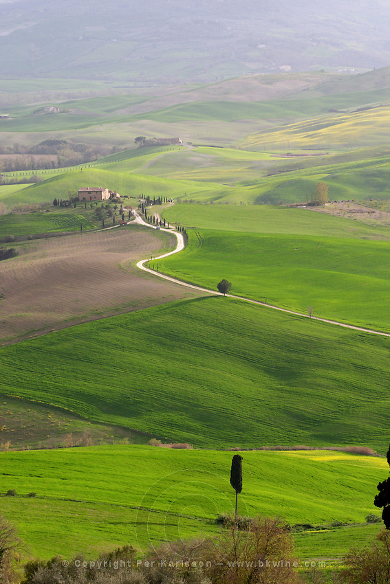 View over the landscape in southern Tuscany