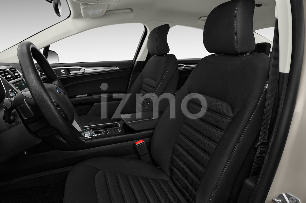 Front seat view of 2017 Ford Fusion SE-FWD 4 Door Sedan Front Seat  car photos