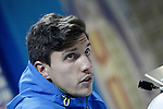 Getafe's Santiago Vergini in press conference after La Liga match. February 14,2016. (ALTERPHOTOS/Acero)