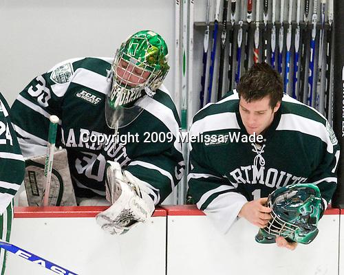 James Mello (Dartmouth - 30), Jody O'Neill (Dartmouth - 1) - The Harvard University Crimson defeated the Dartmouth College Big Green 4-1 (EN) on Monday, January 18, 2010, at Bright Hockey Center in Cambridge, Massachusetts.