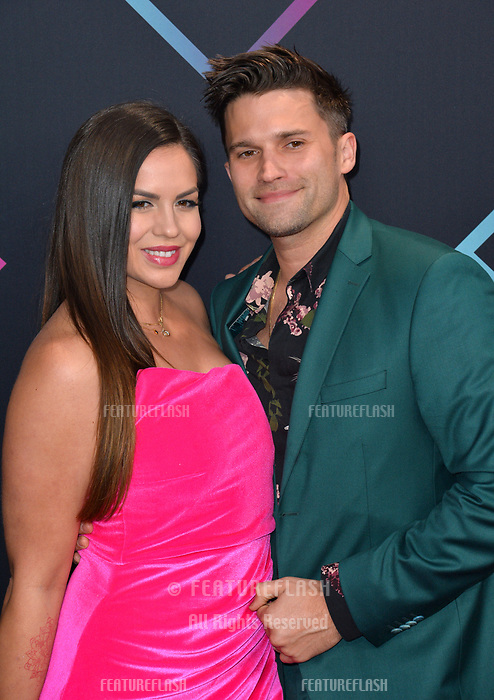 LOS ANGELES, CA. November 11, 2018: Tom Sandoval & Katie Maloney at the E! People's Choice Awards 2018 at Barker Hangar, Santa Monica Airport.<br /> Picture: Paul Smith/Featureflash
