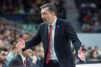 Brose Bamberg coach Luca Banchi during Turkish Airlines Euroleague match between Real Madrid and Brose Bamberg at Wizink Center in Madrid, Spain. April 06, 2018. (ALTERPHOTOS/Borja B.Hojas) /NortePhoto.com