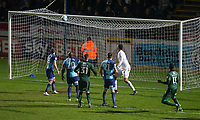Nathan Blissett (right) of Plymouth Argyle scores his goal 1 1 during the Sky Bet League 2 match between Wycombe Wanderers and Plymouth Argyle at Adams Park, High Wycombe, England on 14 March 2017. Photo by Andy Rowland / PRiME Media Images.