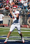 October 22, 2011:   Fresno State Bulldog quarterback Derek Carr drops back to pass in the second quarter against the Nevada Wolf Pack during a WAC league game played at Mackay Stadium in Reno, Nevada.