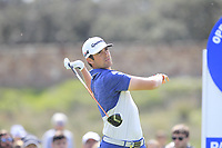 Nacho Elvira (ESP) on the 11th tee during Round 3 of the Open de Espana 2018 at Centro Nacional de Golf on Saturday 14th April 2018.<br /> Picture:  Thos Caffrey / www.golffile.ie<br /> <br /> All photo usage must carry mandatory copyright credit (&copy; Golffile | Thos Caffrey)