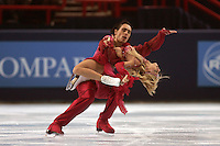 November 19, 2005; Paris, France; Figure skating stars ELENA GRUSHINA and RUSIAN GONCHAROV of Russia skate to gold in ice dancing at Trophee Eric Bompard, ISU Paris Grand Prix competition.  They are favorites in ice dancing leading up to Torino 2006 Olympics.<br />Mandatory Credit: Tom Theobald/<br />Copyright 2005 Tom Theobald