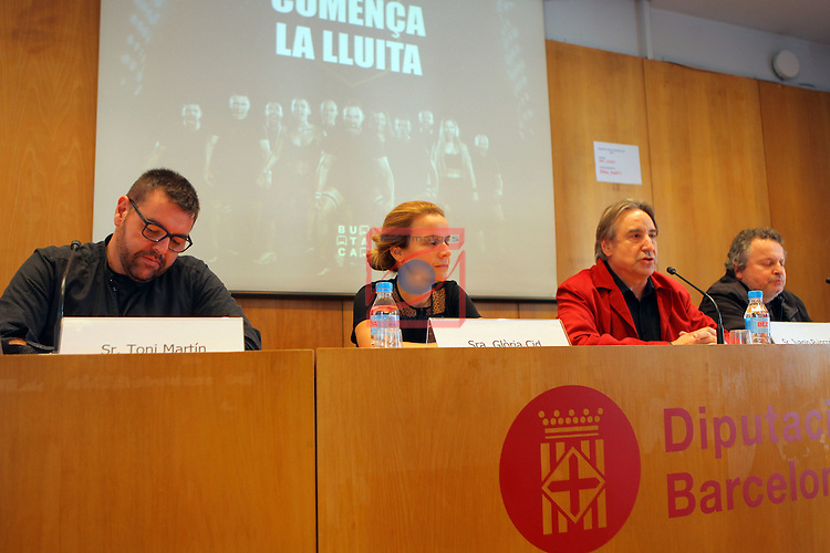 XXII Premis de Teatre de Catalunya.<br /> Presentacio Nominacions Premis Butaca 2016.<br /> Toni Martin, Gloria Cid, Juanjo Puigcorbe &amp; Ramon Muntaner.